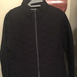 Athlete Quilted Jacket with Thumb Holes